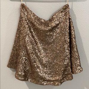 Sequin Gold Skirt XS